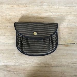 Vintage Striped Small Clutch